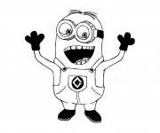 Coloriage Minion Rush Rigolo