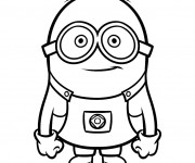 Coloriage Minion Rush vecteur