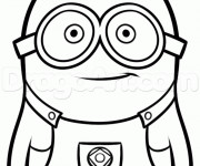 Coloriage Minion Stuart vectoriel