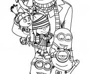 Coloriage et dessins gratuit Moi Moche et Méchant Film à imprimer