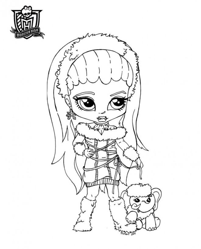 Coloriage et dessins gratuits Bébé Monster High en ligne à imprimer