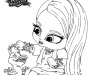 Coloriage Monster High Baby à décorer