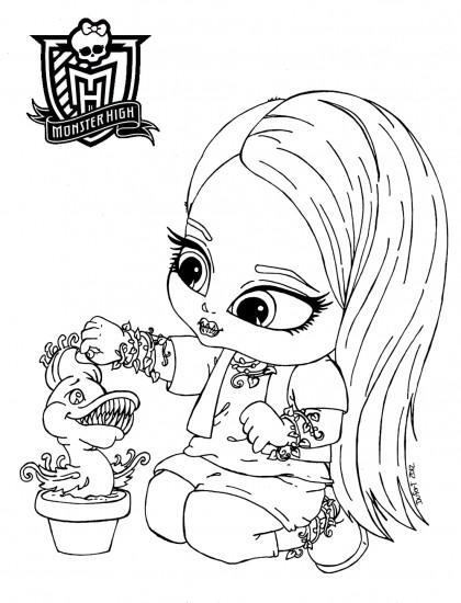 Coloriage et dessins gratuits Monster High Baby à décorer à imprimer