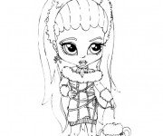 Coloriage et dessins gratuit Monster High Baby charmante à imprimer