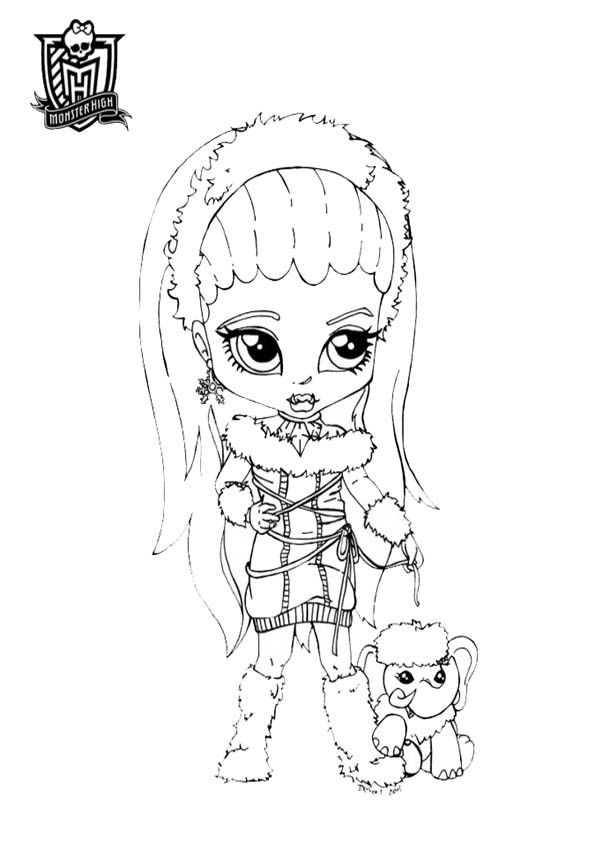 Coloriage monster high baby charmante dessin gratuit - Coloriage monster high baby ...