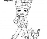 Coloriage Monster High Baby Clawd Wolf