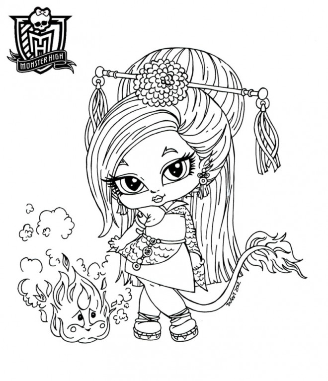 Coloriage monster high baby dessin anim dessin gratuit - Coloriage monster high baby ...