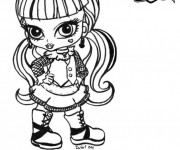 Coloriage Monster High Baby en couleur
