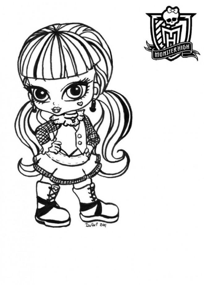 Coloriage et dessins gratuits Monster High Baby en couleur à imprimer