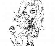 Coloriage et dessins gratuit Monster High Baby Lagoona Blue à imprimer