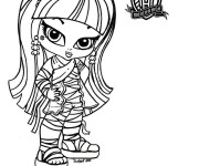 Coloriage Monster High Baby maternelle