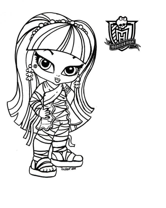 Coloriage et dessins gratuits Monster High Baby maternelle à imprimer