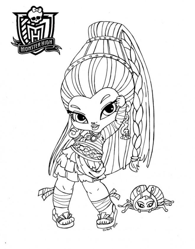 Coloriage et dessins gratuits Monster High Baby Personnage à imprimer