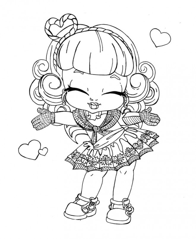 Coloriage monster high baby pour enfant dessin gratuit - Coloriage monster high baby ...