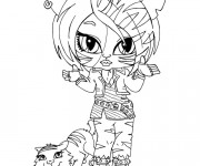 Coloriage Monster High Baby Tigresse