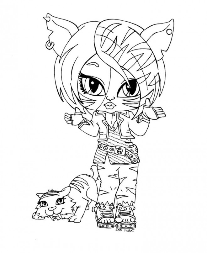 Coloriage et dessins gratuits Monster High Baby Tigresse à imprimer