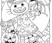 Coloriage Coloriage monstres Halloween drôle
