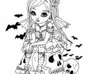 Coloriage et dessins gratuit Dessin jolie vampire à imprimer