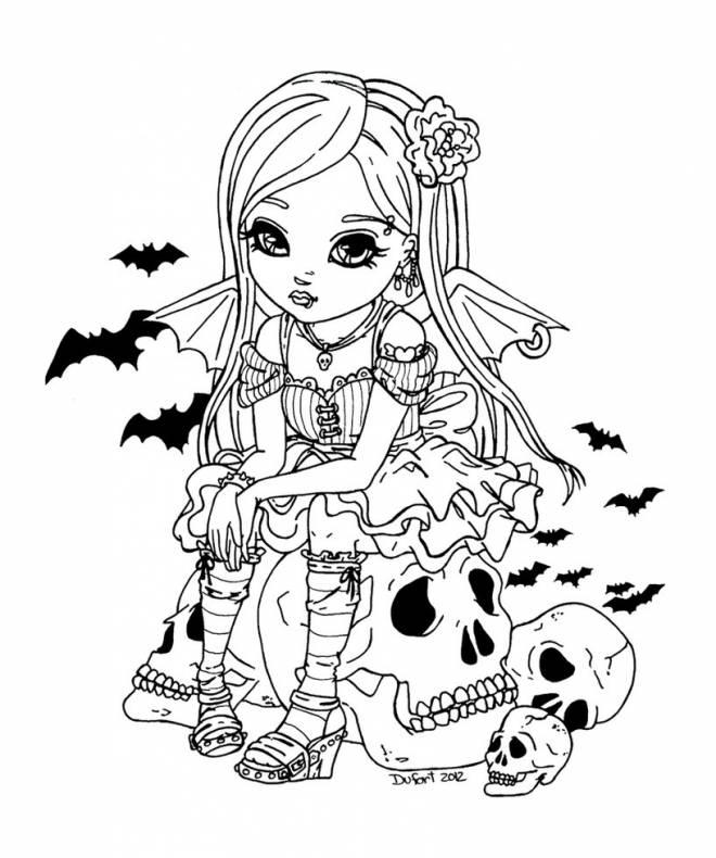 Coloriage Dessin Jolie Vampire Dessin Gratuit à Imprimer