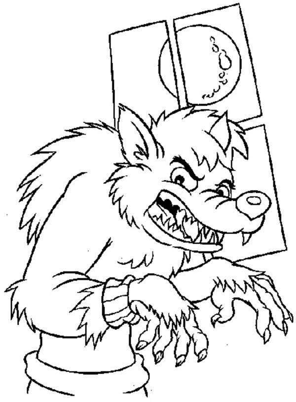Coloriage dessin loup garou facile dessin gratuit imprimer - Dessin loup facile ...
