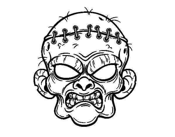 Coloriage et dessins gratuits face zombie à colorier à imprimer