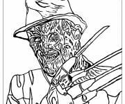 Coloriage Halloween Freddy Krueger