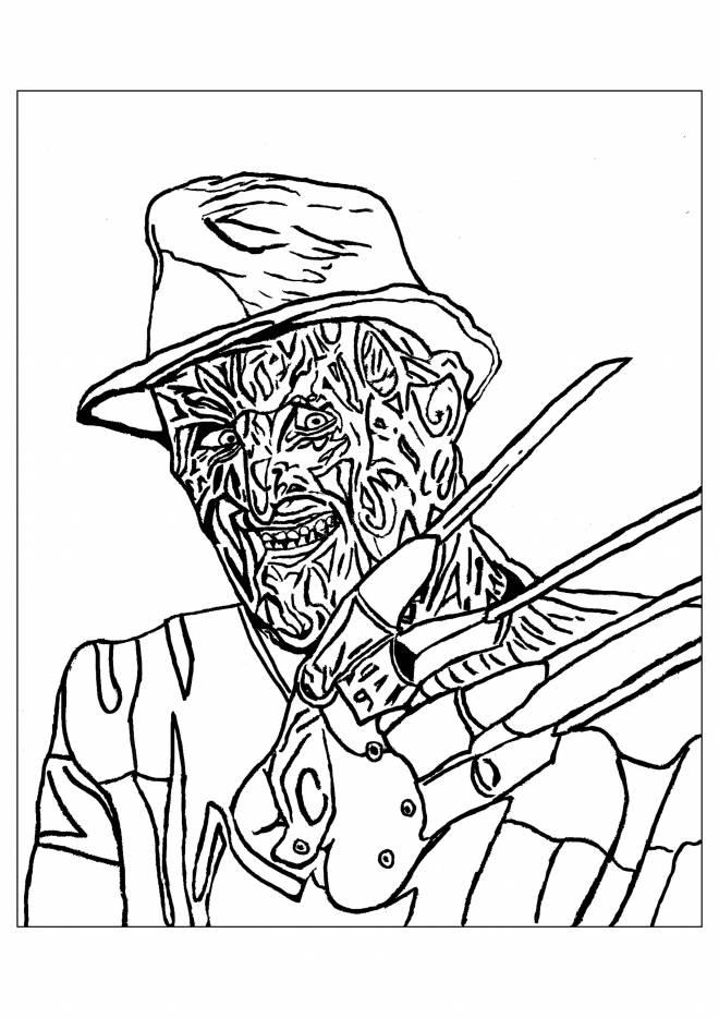 Coloriage Halloween Freddy Krueger Dessin Gratuit A Imprimer
