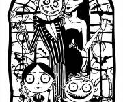 Coloriage Halloween la famille adams - Coloriage Halloween ...