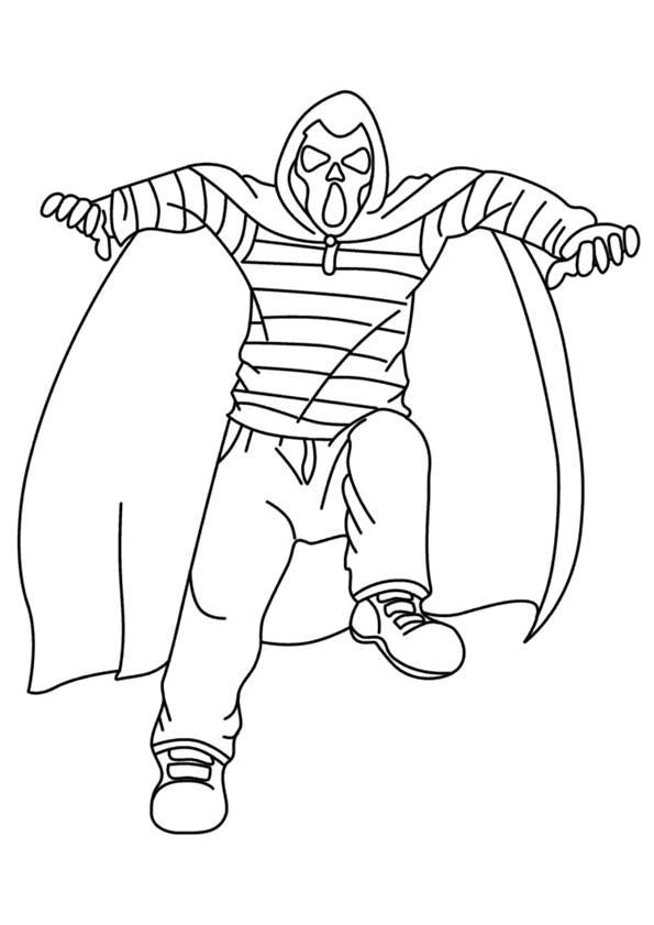 Coloriage et dessins gratuits halloween monstre momie à imprimer