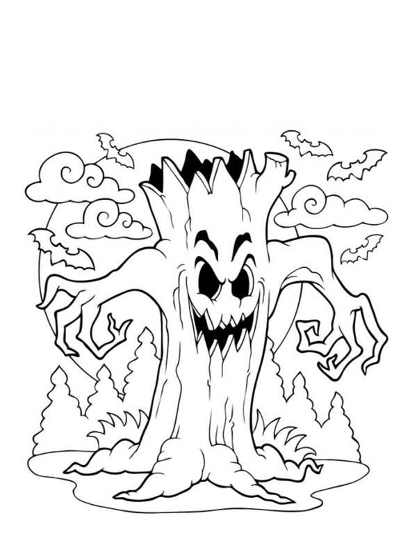 Coloriage et dessins gratuits L'arbre monstrueux à imprimer