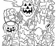 Coloriage Monstre de bou d'Halloween