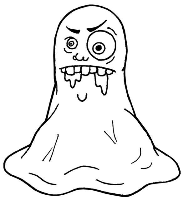 Coloriage et dessins gratuits monstre gluant Halloween à imprimer