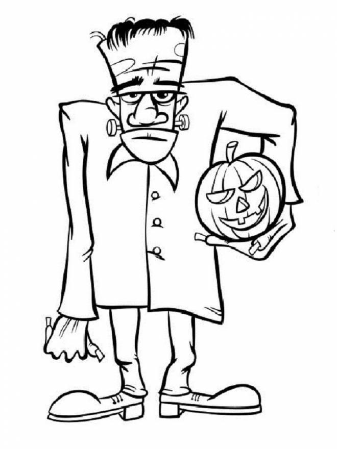 Coloriage et dessins gratuits Monstres frankenstein d'Halloween à imprimer
