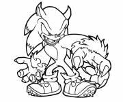Coloriage Sonic Loup Garou
