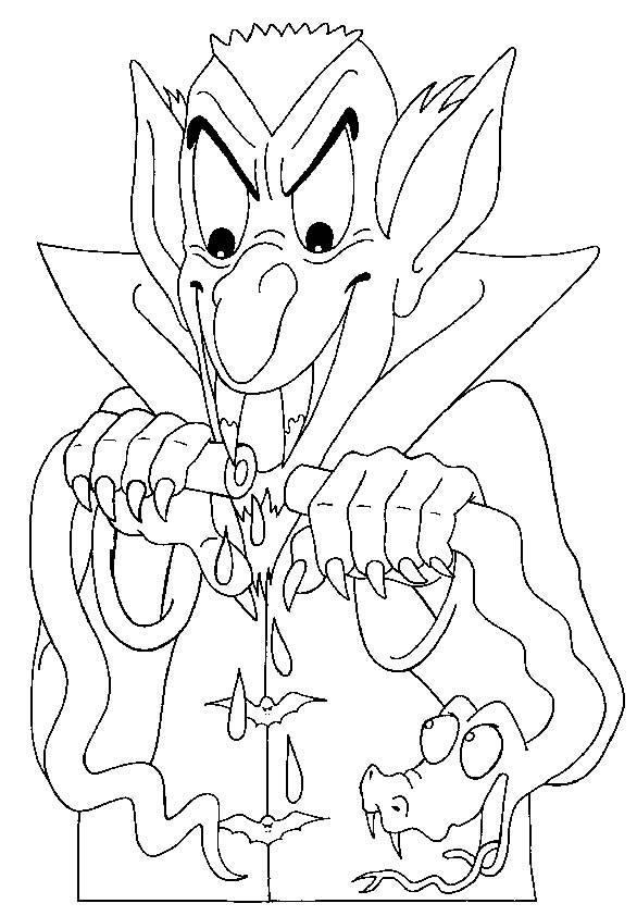 Coloriage et dessins gratuits vampire assoiffé à imprimer