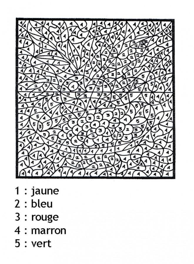 Coloriage magique difficile dessin gratuit imprimer - Coloriage magique difficile ...