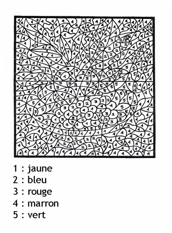Coloriage Magique Tres Difficile Dessin Gratuit A Imprimer