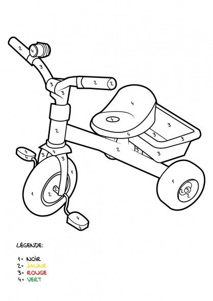 Coloriage et dessins gratuits Mystère bicyclette à imprimer