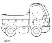 Coloriage Mystère Camionnette