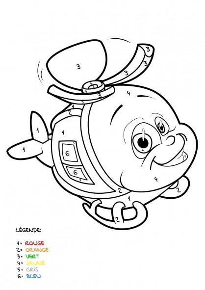 Coloriage et dessins gratuits Mystère Hélicoptère à imprimer