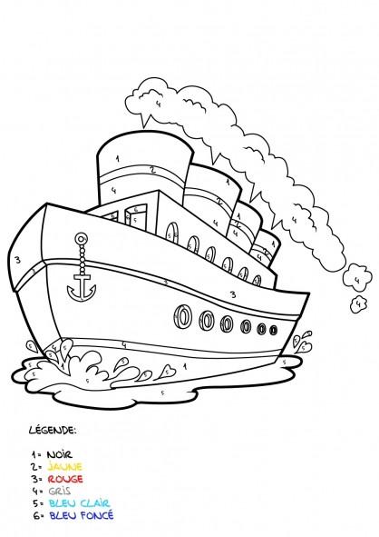 Coloriage et dessins gratuits Mystère Navire à imprimer