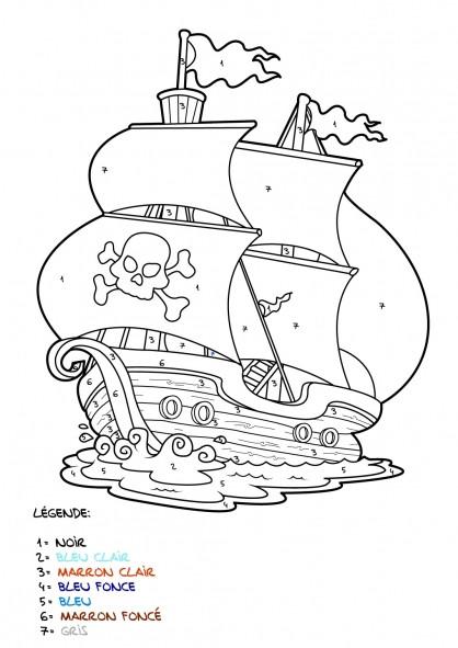 Coloriage et dessins gratuits Mystère Navire de Pirate à imprimer