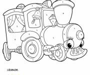 Coloriage Mystère Train pour enfant