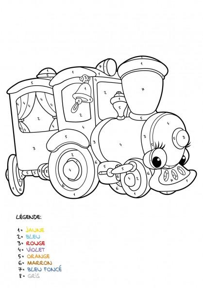 Coloriage et dessins gratuits Mystère Train pour enfant à imprimer