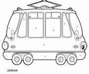 Coloriage Mystère Tramway Classique