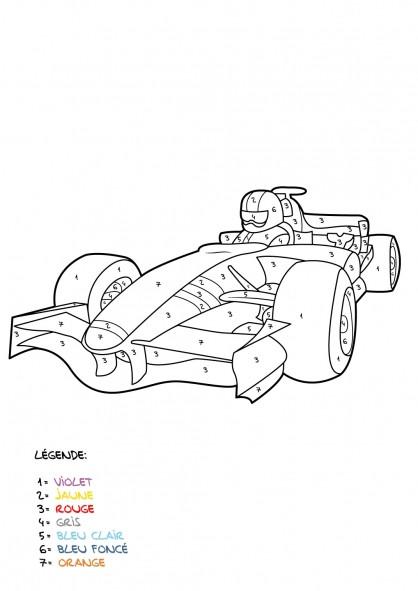 Coloriage et dessins gratuits Mystère voiture de course à imprimer