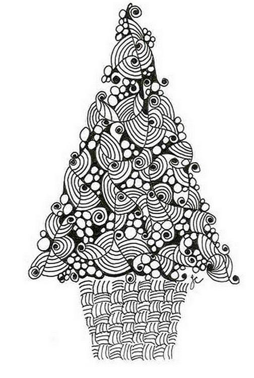 Coloriage et dessins gratuits Adulte Sapin à imprimer