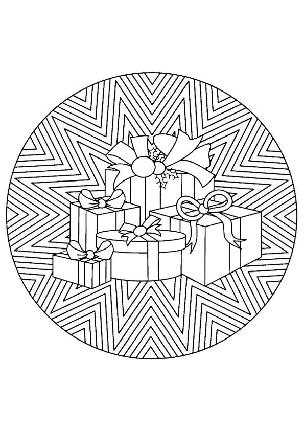Coloriage et dessins gratuits Cadeaux de Noël Adulte à imprimer