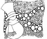 Coloriage dessin  Hiver Neige 20
