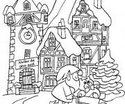 Coloriage Noel Adulte en Hiver